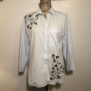 Zara embroidered blouse, size medium